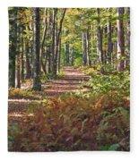 Autumn Ferns Fleece Blanket