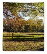 Autumn Field In Pennsylvania Fleece Blanket