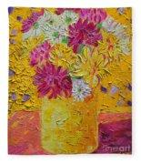 Autumn Flowers 4 Fleece Blanket