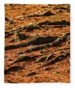 Autumn Forest Floor Fleece Blanket