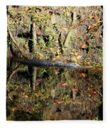 Autumn Gator Fleece Blanket