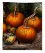 Autumn - Gourd - Pumpkins And Some Other Things  Fleece Blanket