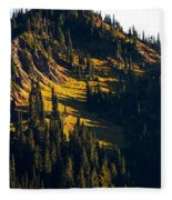 Autumn In A High Mountain Meadow Fleece Blanket