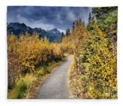 Autumn In Alberta Fleece Blanket