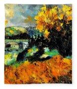 Autumn In Ardennes 672101 Fleece Blanket