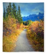 Autumn In Canada Fleece Blanket