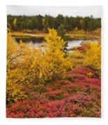 Autumn In Inari Fleece Blanket