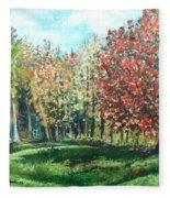 Autumn In My Backyard  Fleece Blanket