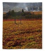 Autumn In Napa Valley Fleece Blanket