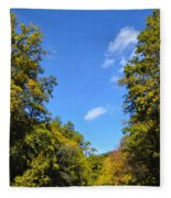 Autumn In Pennsylvania Fleece Blanket