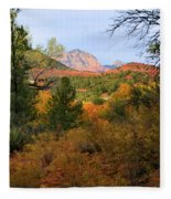 Autumn In Red Rock Canyon Fleece Blanket