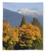 Autumn In The Illinois Valley Fleece Blanket