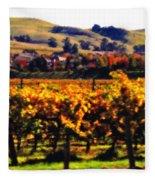 Autumn In The Valley 2 - Digital Painting Fleece Blanket