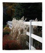 Autumn Is In The Air Fleece Blanket