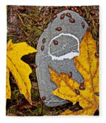 Autumn Ladybugs Fleece Blanket