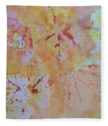 Autumn Leaf Splatter Fleece Blanket