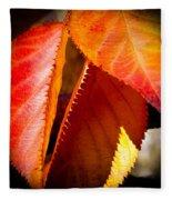 Autumn Leaves II Fleece Blanket