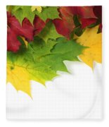 Autumn Leaves In Colour Fleece Blanket
