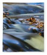Autumn Leaves In Water IIi Fleece Blanket