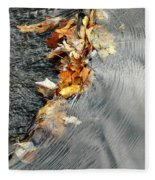 Autumn Leaves Tiny Dam Fleece Blanket
