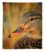 Autumn Mallard Fleece Blanket