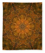 Autumn Mandala 2 Fleece Blanket
