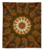 Autumn Mandala 4 Fleece Blanket