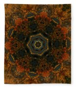 Autumn Mandala 5 Fleece Blanket