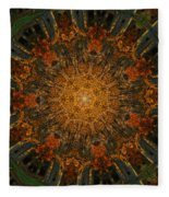 Autumn Mandala 6 Fleece Blanket
