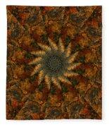 Autumn Mandala 7 Fleece Blanket