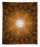 Autumn Mandala 8 Fleece Blanket