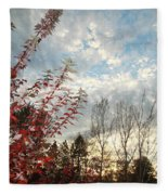 Autumn Maple And Sky Fleece Blanket