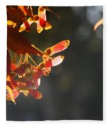 Autumn Maple Fleece Blanket