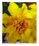 Autumn Marigold 2 Fleece Blanket