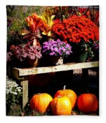 Autumn Market Fleece Blanket