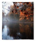 Autumn Morning By Wissahickon Creek Fleece Blanket