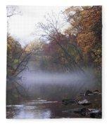 Autumn Morning On The Wissahickon Fleece Blanket