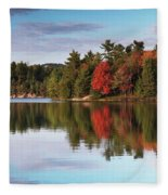 Autumn Nature Lake And Trees Fleece Blanket