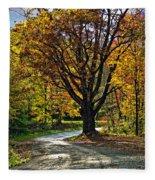Autumn Oak Fleece Blanket