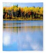 Autumn On Chena Lake L Fleece Blanket