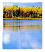 Autumn On Chena Lake Ll Fleece Blanket