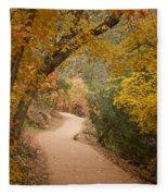 Autumn On Emerald Trail Fleece Blanket