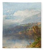 Autumn On The Androscoggin Fleece Blanket