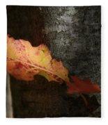 Autumn Orange Fleece Blanket
