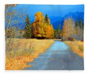 Autumn Perspective Fleece Blanket