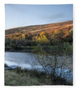 Autumn Pond 3 Fleece Blanket