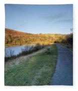 Autumn Pond 5 Fleece Blanket