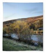 Autumn Pond 6 Fleece Blanket