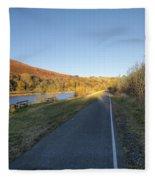 Autumn Pond 8 Fleece Blanket
