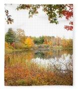 Autumn Pond Fleece Blanket